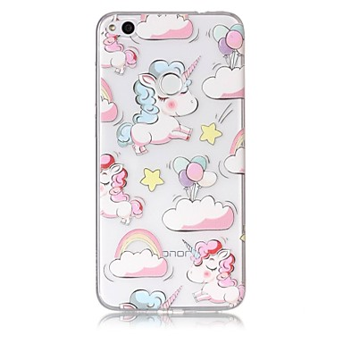 Hoesje voor huawei p10 lite p8 lite (2017) telefoon hoesje tpu materiaal unicorn patroon beschilderde telefoon hoesje p9 lite p8 lite