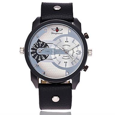 Bărbați Quartz Ceas de Mână Ceas Militar  Ceas Sport Chineză Mare Dial Piele Bandă Charm Lux Casual Unic Watch Creative Elegant Modă