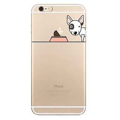Maska Pentru Apple iPhone 7 Plus iPhone 7 Transparent Model Capac Spate Se joaca cu logo-ul Apple Câțel Desene Animate Moale TPU pentru