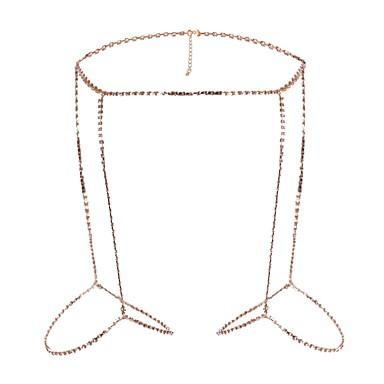 Pentru femei Bijuterii de corp Lănțișor Picior Aliaj Auriu Argintiu Sexy Costum de bijuterii Pentru Scenă aleasă a inimii Ieșire Vară