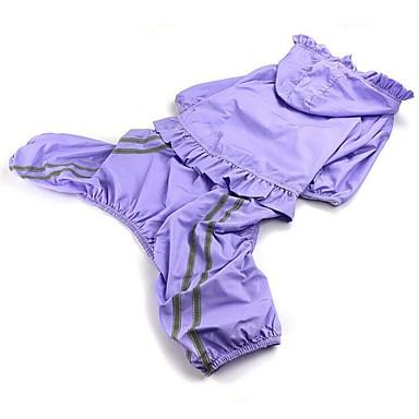 Hund Regenmantel Hundekleidung Lässig/Alltäglich Solide Purpur Grün Blau Rosa Kostüm Für Haustiere