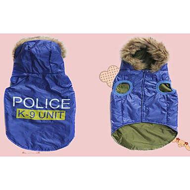 Câine Haine Îmbrăcăminte Câini Casul/Zilnic Polițist/Militar Negru Albastru Costume Pentru animale de companie