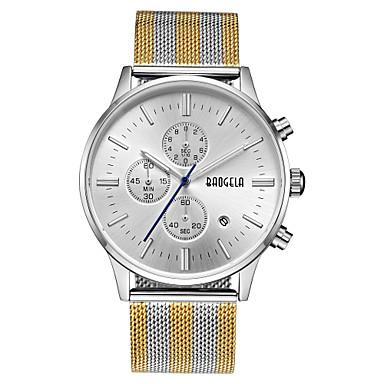 Χαμηλού Κόστους Ανδρικά ρολόγια-Ανδρικά Καθημερινό Ρολόι Αθλητικό Ρολόι Μοδάτο Ρολόι Ιαπωνικά Γιαπωνέζικο Quartz Ανοξείδωτο Ατσάλι Μαύρο / Ασημί / Χρυσό 50 m Ανθεκτικό στο Νερό Ημερολόγιο Δημιουργικό Αναλογικό / Δύο χρόνια