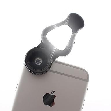 3-in-1 lentilă pentru telefoane mobile cu lentile de lumină cu led 15x macro&0,62x obiectiv cu unghi larg&205 de grade obiectiv