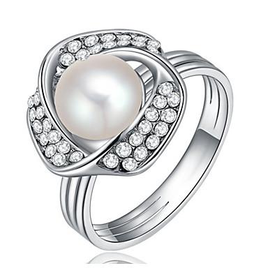 Pentru femei Band Ring Imitație de Perle Personalizat Lux Clasic De Bază Sexy Iubire Elegant Cute Stil Modă Imitație de Perle Aliaj