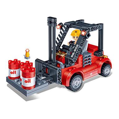 Speelgoedauto's Bouwblokken 3D-puzzels Vorkheftruck DHZ Kunststoffen Vorkheftruck Kinderen Jongens Geschenk
