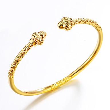 Herrn / Damen vergoldet Manschetten-Armbänder - Hip-Hop / Modisch / Einstellbar Geometrische Form / Trapezform / Irregulär Gold Armbänder