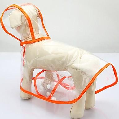 كلب معطف المطر ملابس الكلاب كاجوال/يومي متين أبيض برتقالي أخضر