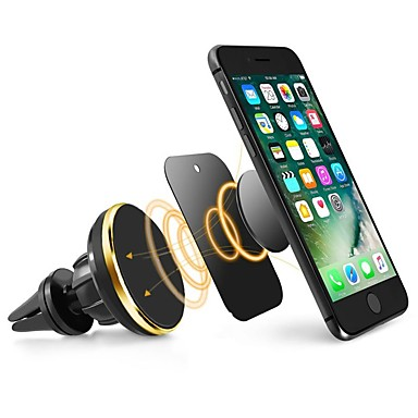 cheap Phone Holder-ZIQIAO Universal Car Phone Holder Magnetic Air Vent Mount Stand 360 Rotation Mobile Phone Holder for iPhone Samsung Phone