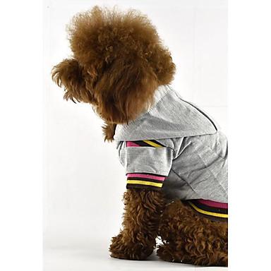 Câine Tricou Hanorace cu Glugă Îmbrăcăminte Câini Casul/Zilnic Dungi Gri Galben Fucsia Cafea Costume Pentru animale de companie