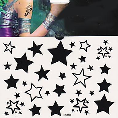 1 Tatuagens Adesivas Outros não tóxica Lombar Á Prova d'águaFeminino Masculino Adulto Adolescente Flash do tatuagem Tatuagens temporárias