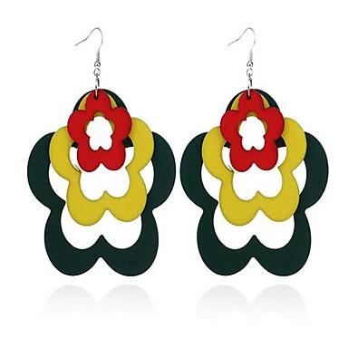 Dames Druppel oorbellen Modieus Bohemia Style leuke Style Oversized Hout Bloemvorm Sieraden Voor Anders >> Causaal Feestdagen