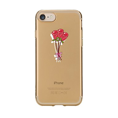 Maska Pentru Apple iPhone 7 Plus iPhone 7 Transparent Model Capac Spate Floare Moale TPU pentru iPhone 7 Plus iPhone 7 iPhone 6s Plus