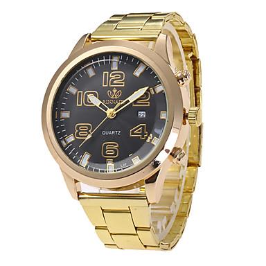 Dames Unieke creatieve horloge Polshorloge Militair horloge Modieus horloge Sporthorloge Vrijetijdshorloge Kwarts Kalender Roestvrij staal