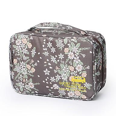 Geantă Călătorie Geantă Cosmetice Organizator Bagaj de Călătorie Impermeabil Portabil Drăguț pentru Haine Nailon 29*11*18 Floral Desene