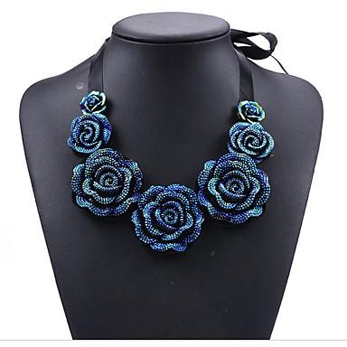 Pentru femei Circle Shape Floare Personalizat Lux Boem De Bază Panglici Modă Ajustabile Confecționat Manual Două-Tonuri Elegant Coliere