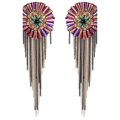 Pentru femei Cercei Stud Confecționat Manual Supradimensionat Bohemia Stil Cristal Round Shape Flower Shape Bijuterii PentruScenă