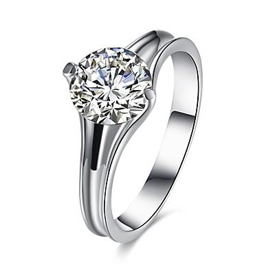 Pentru femei Verighete Inele Midi Cristal Zirconiu Cubic Geometric La modă Personalizat bijuterii de lux Bling bling Cristal Zirconiu