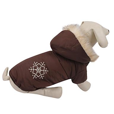 Hond Jassen Hondenkleding Casual/Dagelijks Effen Koffie Rood Kostuum Voor huisdieren