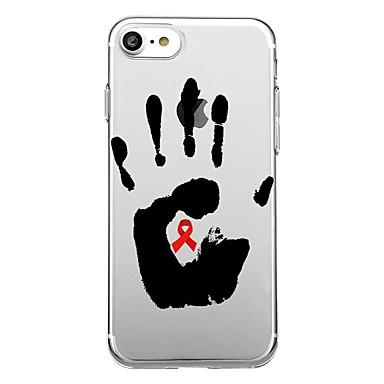 Voor iphone 7 plus 7 case cover transparant patroon achterblad case woord / zin soft tpu voor iphone 6s plus 6s 6 plus 6 5s 5 se