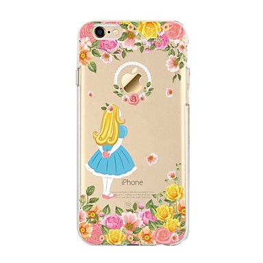 Caz pentru iphone 7 6 floare tpu soft ultra-subțire spate cover case acoperă iphone 7 plus 6 6s plus se 5s 5 5c 4s 4