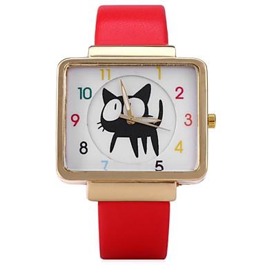 Heren Polshorloge Modieus horloge Vrijetijdshorloge Chinees Kwarts Hot Sale Leer Band Informeel Cool Zwart Wit Rood Bruin