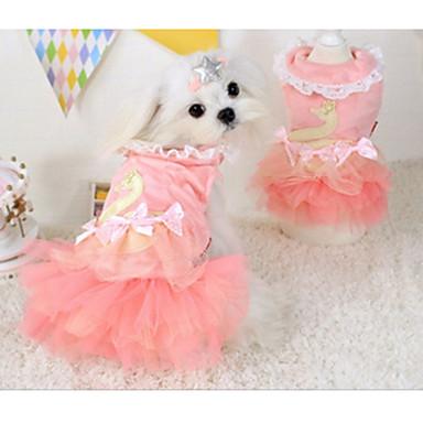 كلب الفساتين ملابس الكلاب كاجوال/يومي صلب زهري