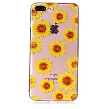 Hoesje voor apple iphone 7 7 plus hoesje zonnebloempatroon voel lak reliëf hoge penetratie tpu materiaal telefoon hoesje voor iphone 6s 6