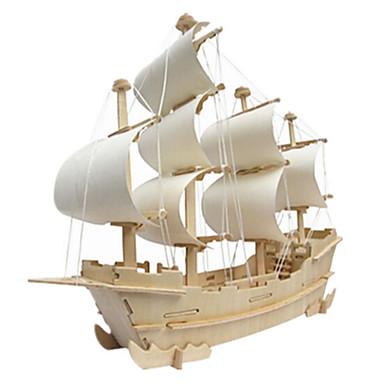 3D - Puzzle Holzpuzzle Holzmodelle Kriegsschiff Berühmte Gebäude Haus Hölzern Naturholz Unisex Geschenk