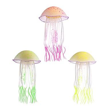 Decorațiune pentru Acvariu meduză Luminos Cauciuc