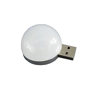 1 قطعة الصمام ليلة الخفيفة أضواء USB ديكور سهل الحمل USB أبيض بارد