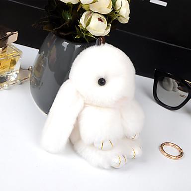 كيس / الهاتف / المفاتيح سحر الأرنب الكرتون لعبة ريكس الأرنب الفراء