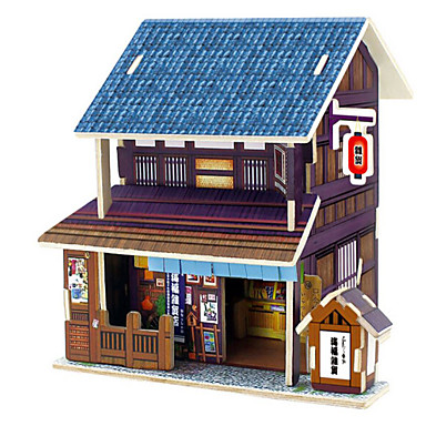 3D-puzzels Legpuzzel Hout Model Speeltjes Huis Architectuur 3D DHZ Hout Natuurlijk Hout Unisex Stuks