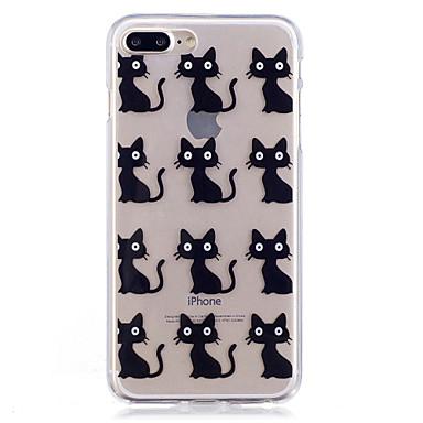 Hülle Für Apple iPhone 7 Plus iPhone 7 IMD Transparent Muster Rückseite Anwendung Katze Weich TPU für iPhone 7 Plus iPhone 7 iPhone 6s