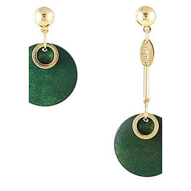 للمرأة أقراط الزر عتيقة عدم تطابق موضة خشب Round Shape مجوهرات من أجل يوميا فضفاض عطلة