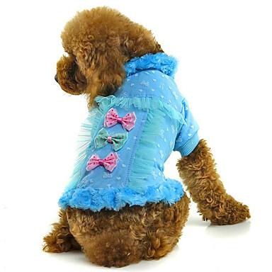 Hond Jassen Hondenkleding Strik Blauw Roze Pluche stof Katoen Kostuum Voor huisdieren Heren Dames Casual / Dagelijks
