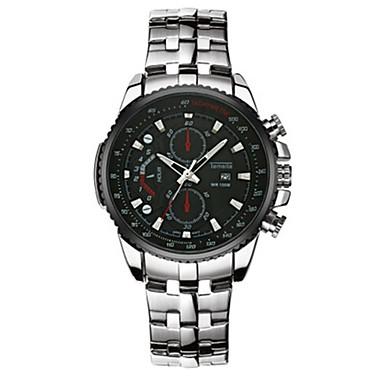 Heren Modieus horloge Kwarts Roestvrij staal Band Informeel Zwart Wit