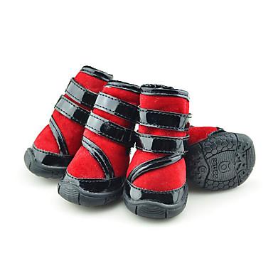 Câine Pantofi & Cizme Casul/Zilnic Keep Warm Impermeabil Cizme de Zăpadă Dungi Rosu Verde Albastru Pentru animale de companie