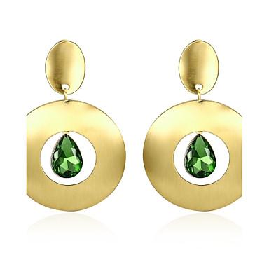 Pentru femei Cristal / Zirconiu Cubic Cercei Picătură - Cristal, Zirconiu, Placat Auriu Personalizat, Lux, În Cruce Auriu Pentru Petrecere / Absolvire / Zilnic