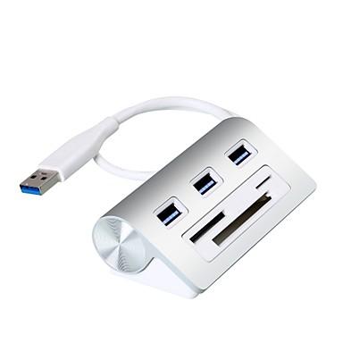 3 Ports USB-hub USB 3.0 Met Card Reader (s) Data Hold Invoer Bescherming Buiten bereik bescherming Data Hub