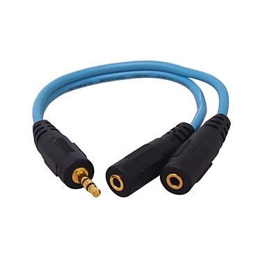 3.5mm audio Jack Despărțitoare, 3.5mm audio Jack to 3.5mm audio Jack Despărțitoare Bărbați-Damă 0,2M (0.65Ft)