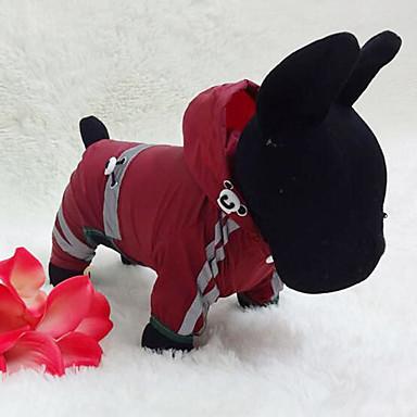 Hund Regenmantel Hundekleidung Solide Gelb Rot Grün Acrylfasern Kostüm Für Haustiere Herrn Damen Lässig/Alltäglich