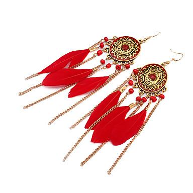 Dames Druppel oorbellen Sieraden Vintage Bohemia Style leuke Style Modieus Legering Veer Sieraden VoorDagelijks Causaal Avond Feest
