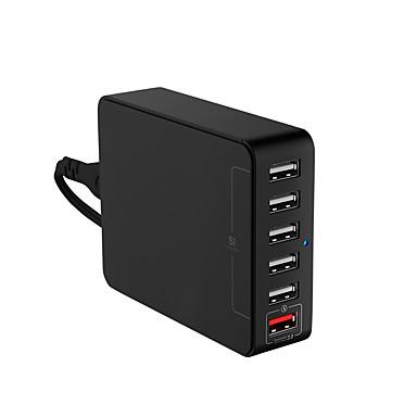 Încărcător USB 6 porturi Stație încărcător de birou Cu identificare inteligentă Cu Quick Charge 2.0 Priză US Adaptor de încărcare