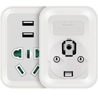 Priză DE Telefon încărcător USB Cabluri 0 cm 1 Prize 2 Porturi USB 10A AC 220V-240V