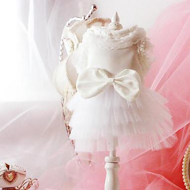 كلب الفساتين ملابس الكلاب الزفاف أميرة أبيض كوستيوم للحيوانات الأليفة