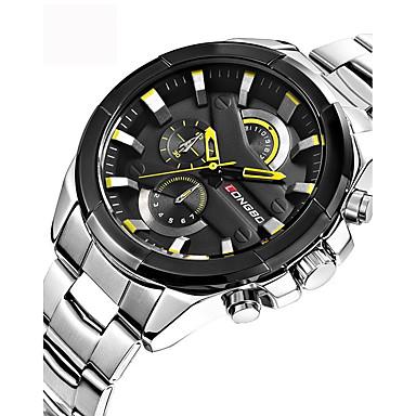 b9cfb12b7875 Hombre Reloj Deportivo Reloj Militar Reloj de Pulsera Japonés Cuarzo Acero  Inoxidable Negro   Plata