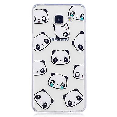 hoesje Voor Samsung Galaxy A5(2017) A3(2017) IMD Transparant Patroon Achterkantje Panda Zacht TPU voor A3 (2017) A5 (2017) A5(2016)