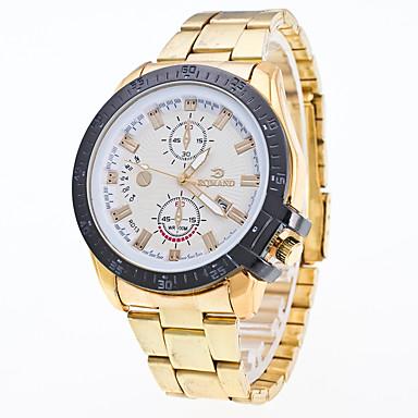 Bărbați Ceas de Mână Ceas Elegant  Ceas La Modă Chineză Quartz Calendar Metal Oțel inoxidabil Bandă Cool Argint Auriu Roz auriu