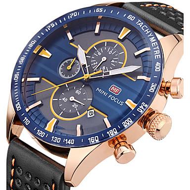 Bărbați Quartz Ceas de Mână Ceas Sport Calendar Cronograf Cronometru Piele Autentică Bandă Charm Lux Creative Casual Unic Watch Creative